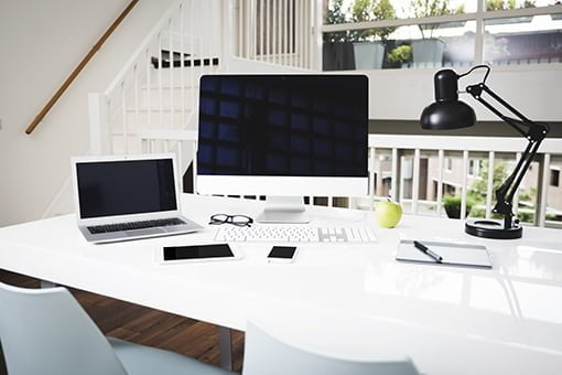 Modern office webdesign mockup